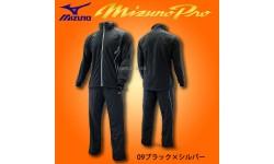 ミズノ 限定 ミズノプロ ブレーカーシャツ フルZIP(裏ブレスサーモ) 長袖 ブレーカーパンツ 上下 12JE6W80-12JF6W80