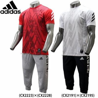 【即日出荷】 adidas アディダス ウェア 5T 2ND ユニフォーム クルー1 半袖 3/4 プラクティス パンツ 七分丈 上下セット セットアップ ETY29-ETY24