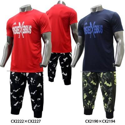 adidas アディダス ウェア 5T タイポグラフT VS Tシャツ 3/4 プラクティス パンツ グラフィック 七分丈 上下セット セットアップ ETY30-ETY25