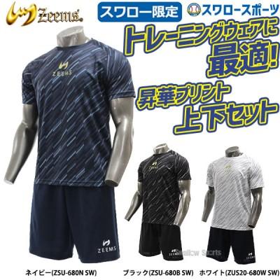 【即日出荷】 ジームス Zeems ウェア スワロー限定 オリジナル 半袖 昇華Tシャツ 上下セット ZSU20-680SW