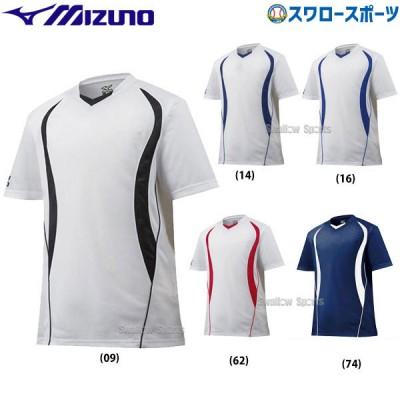 ミズノ ベースボールシャツ V首 デザイン切り替え 12JC5L10