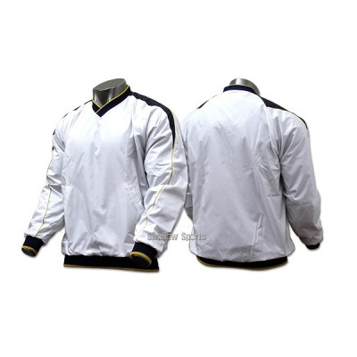 ハイゴールド 長袖Vネックジャケット(裏トリコット起毛) HRD-5035