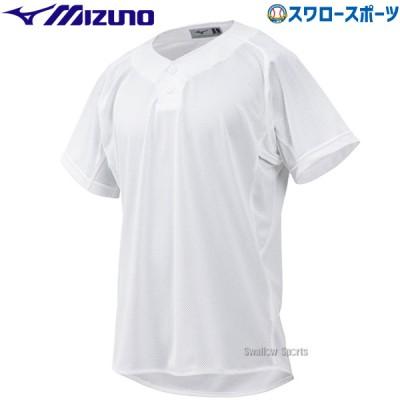 ミズノ ウェア ユニフォーム シャツ 練習用シャツ セミハーフボタンタイプ 12JC8F6901 Mizuno