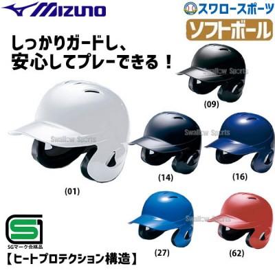 ミズノ ソフトボール用 ヘルメット 両耳付 打者用 1DJHS101