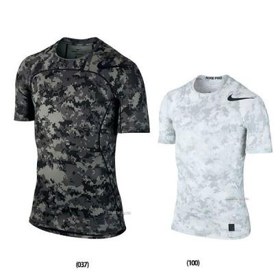 【即日出荷】 NIKE ナイキ NP ハイパークール コンプレッション カモ S/S トップ Tシャツ 828177