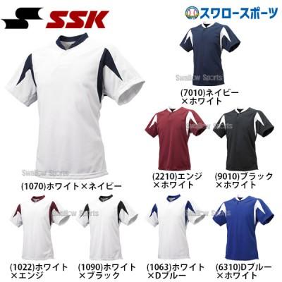 SSK エスエスケイ 1ボタン ベースボールTシャツ 半袖 BT2300