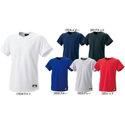 SSK エスエスケイ Tシャツ 2ボタン ベースボール Tシャツ (無地) BW1460