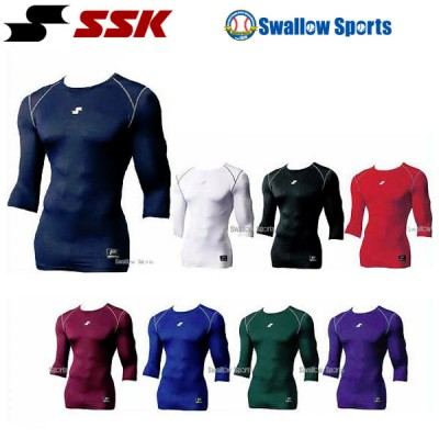 SSK エスエスケイ ローネック 七分袖 フィット アンダーシャツ SCB017L7 SCβ ワイド ウエア ウェア アンダーシャツ ssk 野球用品 スワロースポーツ ■TRZ ■TRZ