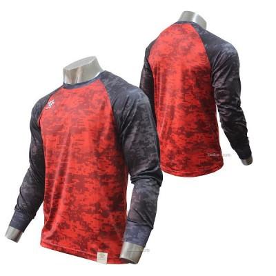 【即日出荷】 アップセット upset ウェア プラクティスシャツ デジカモ 長袖 UPSET-1300 野球用品 スワロースポーツ